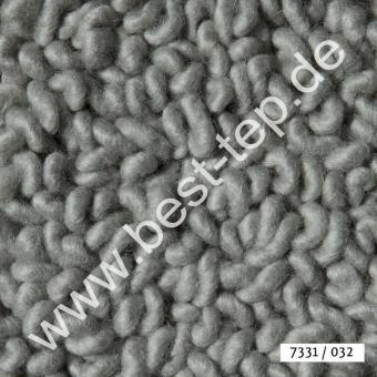 JAB Anstoetz LANA COLOR Pure Teppich 7331/032 Silbergrau