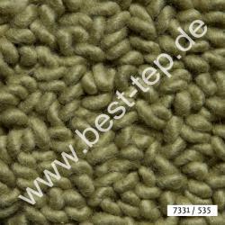 JAB Anstoetz LANA COLOR Pure Teppich 7331/535 Schilfgrün