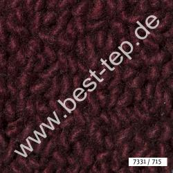 JAB Anstoetz LANA COLOR Pure Teppich 7331/715 Weinrot