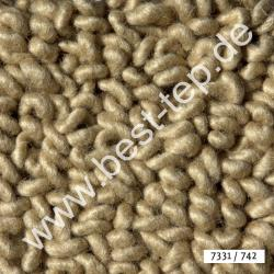 JAB Anstoetz LANA COLOR Pure Teppich 7331/742 Beige